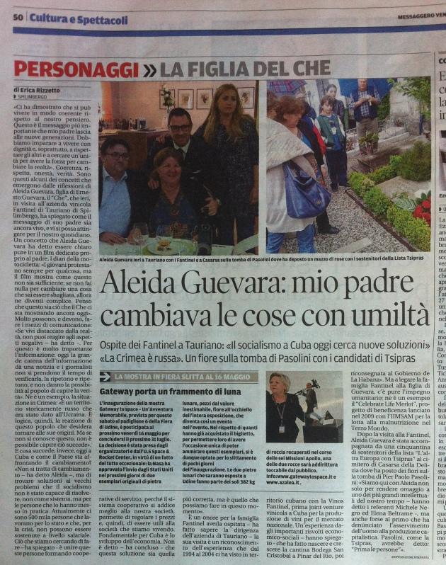 Aleida Guevara_intervista di Erica Rizzetto